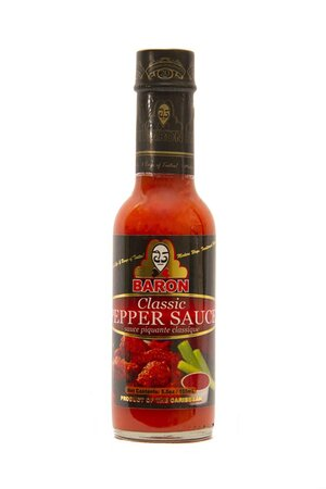 Baron Blazing Hot Pepper Sauce