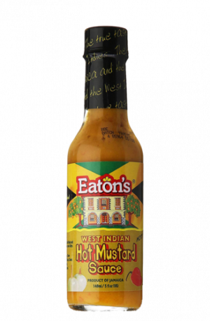 Eaton's West Indian Hot Mustard Sauce Anjo's Imports