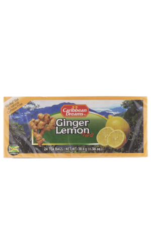 Caribbean Dreams Ginger Lemon Tea (pack of 24 tea bags) | Caffeine Free