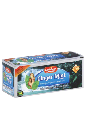 Caribbean Dreams Ginger Mint Tea (24 pack) | Caffeine Free