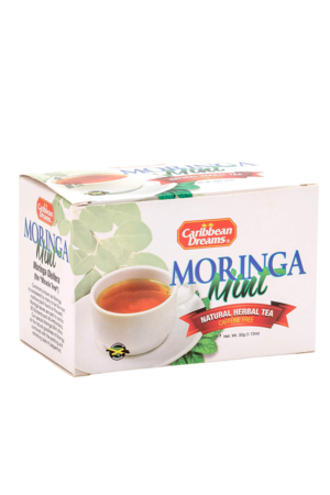Caribbean Dreams Moringa Mint Tea (pack of 20 tea bags) | Caffeine Free