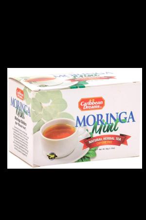 Caribbean Dreams Moringa Mint Tea (pack of 20 tea bags) | Caffeine Free