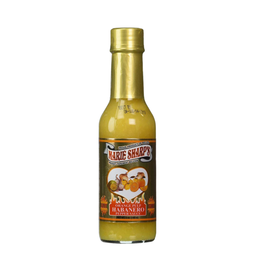 Marie Sharp's Orange Pulp Habanero Pepper Sauce 5oz Anjo's Imports