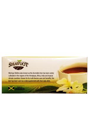 Shavout Moringa Tea Back Anjo's Imports