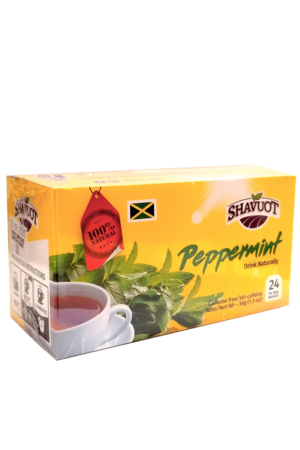 Shavout Peppermint Tea – Herbal tea from Jamaica | 100% Natural (24 count)