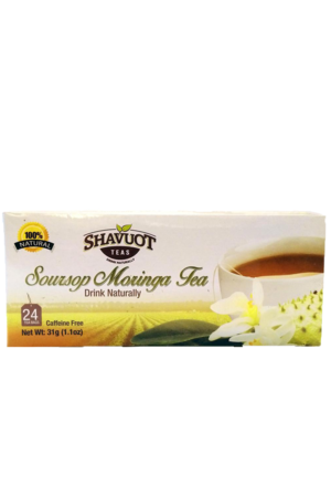 Shavuot Soursop Moringa Tea from Jamaica | 100% Natural (24 pack)