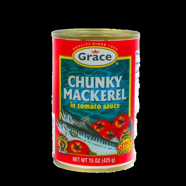 Grace Chunk Mackerel in Tomato Sauce Anjo's Imports