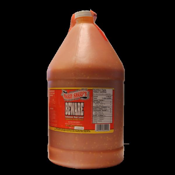 Marie Sharp's BEWARE Habanero Hot Sauce 1 Gallon Anjo's Imports