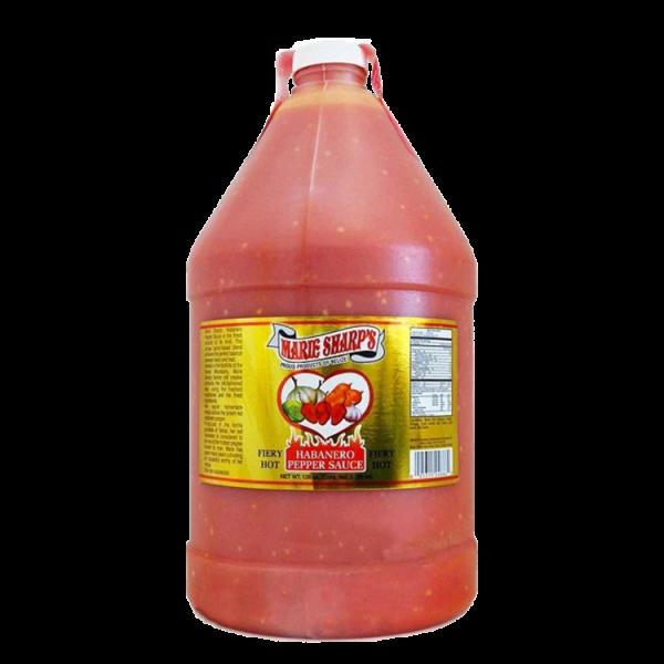 Marie Sharp's Habanero Pepper Sauce (FIERY HOT) 1 Gallon Anjo's Imports