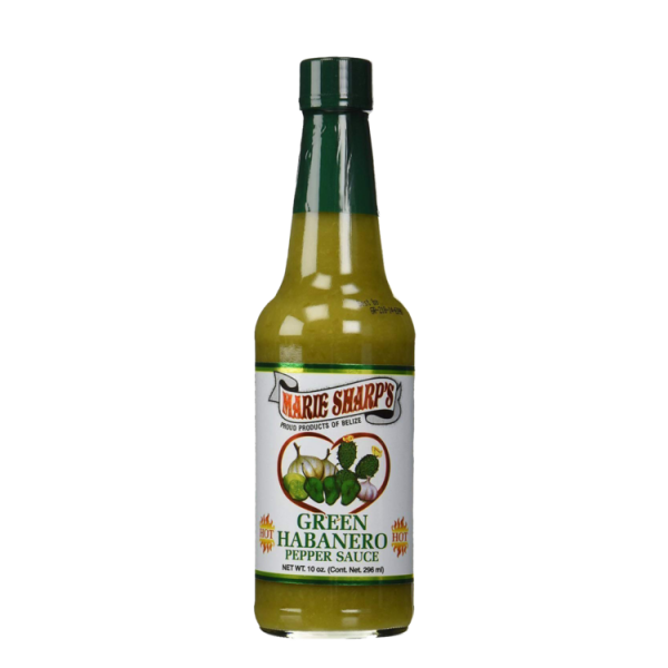 Marie Sharp's Green Habañero Hot Pepper Sauce 10oz Anjo's Imports